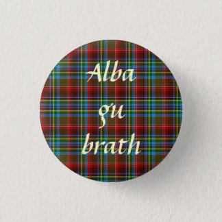 Scottish Independence Tartan Alba Gu Brath Pinback 3 Cm Round Badge