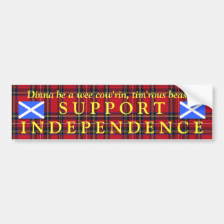Scottish Independence Tartan Burns Bumper Sticker