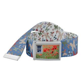 Scottish Independence Tartan Butterfly Poppy Belt