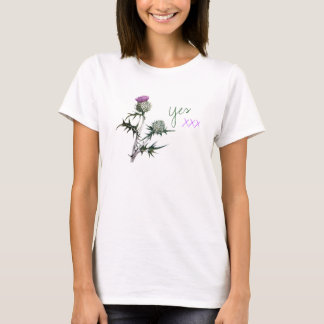 Scottish Independence Thistle Kisses Yes Tee