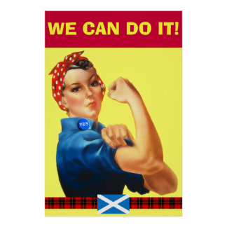 Scottish Independence We Can Do It Wallace Poster