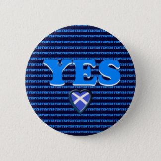 Scottish Independence Yes Heart Flag Badge