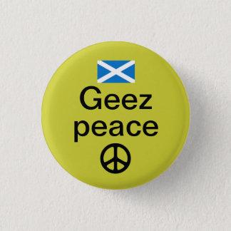 Scottish Indyref Peace Pinback 3 Cm Round Badge