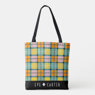 Scottish inspired Iona Tartan Tote Bag