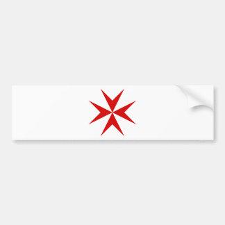 Scottish Knights Templar Cross Bumper Sticker