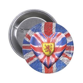 Scottish Lion 6 Cm Round Badge