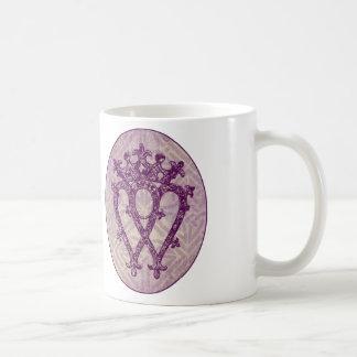 Scottish Luckenbooth Purple Celtic Knot Basic White Mug