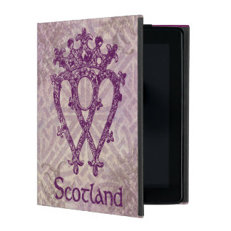 Scottish Luckenbooth Purple Celtic Knot iPad Cover