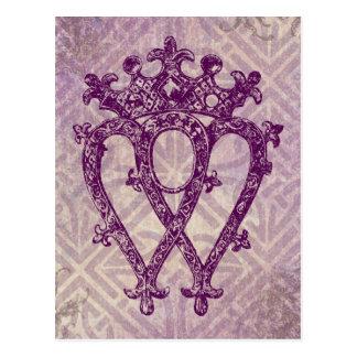 Scottish Luckenbooth Purple Celtic Knot Postcard