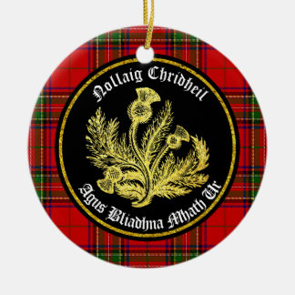Scottish Merry Christmas and Happy New Year Ceramic Ornament