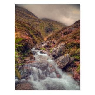 Scottish Mountain Stream Postcard