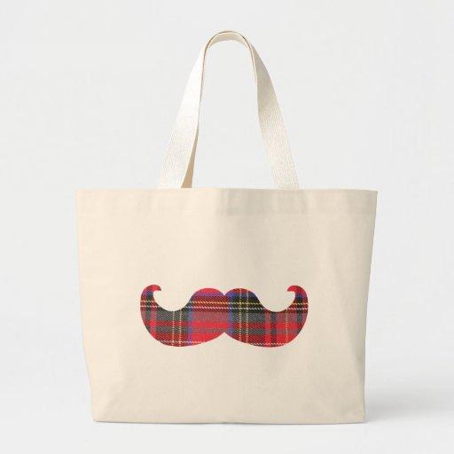 Scottish Mustache (or scottache moustache) Bags