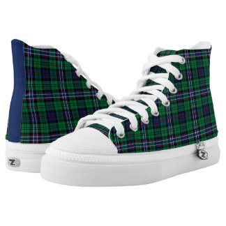 Scottish National Tartan Hi-Top Printed Shoes