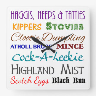 Scottish Nosh - Scotland Food Wall Clock
