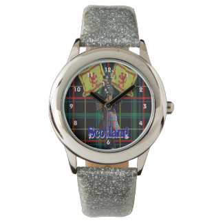Scottish piper on tartan watch