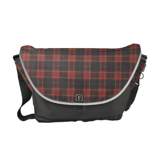 Scottish plaid pattern commuter bag
