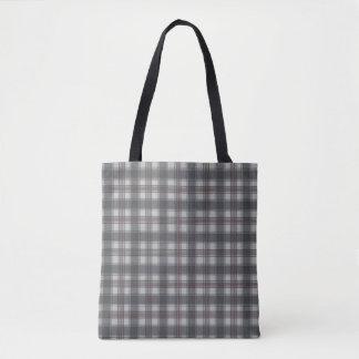 Scottish plaids grey tote bag