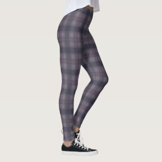 Scottish plaids purple leggings