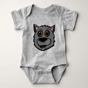 Scottish puppy Head Baby Bodysuit