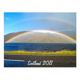 Scottish Rainbow Postcard