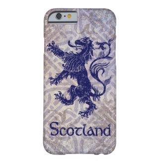 Scottish Rampant Lion Navy Blue Celtic Knot Barely There iPhone 6 Case