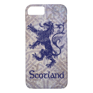 Scottish Rampant Lion Navy Blue Celtic Knot iPhone 7 Case