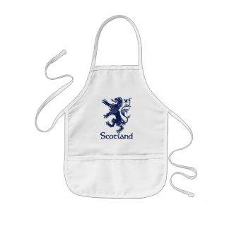 Scottish Rampant Lion Navy Blue Kids Apron