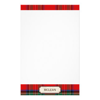 Scottish Red Clan Plaid Tartan Stationery