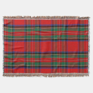 Scottish Red Clan Plaid Tartan Throw Blanket