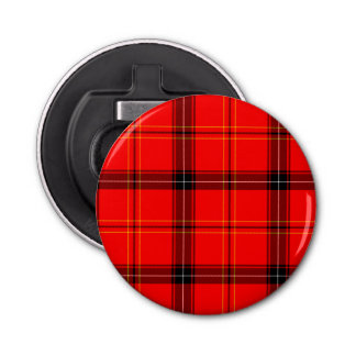Scottish Red Tartan Bottle Opener
