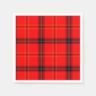 Scottish Red Tartan Disposable Napkins