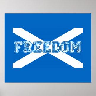 Scottish Referendum Scotland Independant Freedom Poster