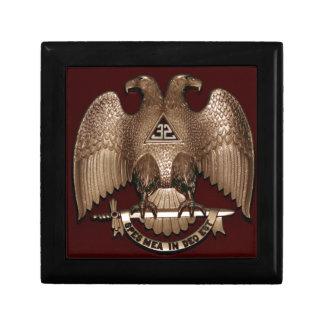 Scottish Rite 32 degree Mason Double Eagle Red Gift Box
