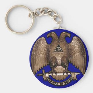 Scottish Rite 32 Degree Royal Blue Keychain