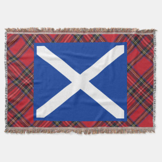 Scottish Saltire Flag of Scotland Throw Blanket