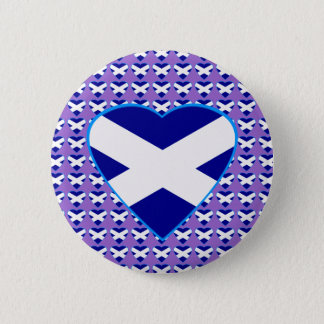 Scottish Saltire Heart Badge