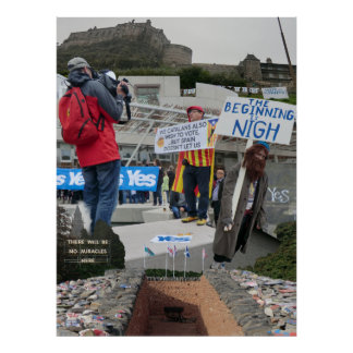 Scottish Scenes from the Independence Referendum Poster