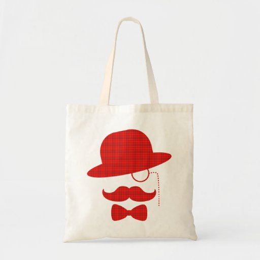 Scottish Sir with Moustache Canvas Bags