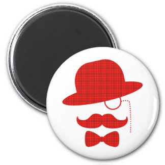 Scottish Sir with Moustache Refrigerator Magnet
