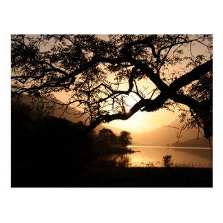 Scottish Sunset across a Loch Postcard
