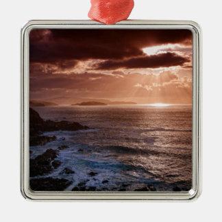 Scottish Sunset, North Coast of Scotland Metal Ornament