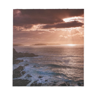 Scottish Sunset, North Coast of Scotland Notepad