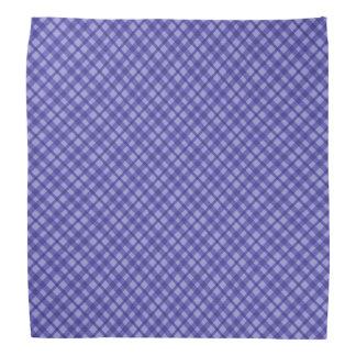 Scottish tartan buffalo plaid pattern blue bandana