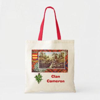 Scottish Tartan, Clan Cameron, Braemar Tote Bag