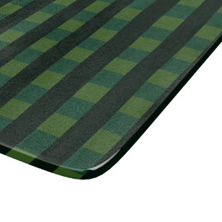 Scottish tartan, dark green chequered pattern cutting board