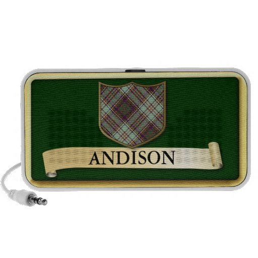 Scottish Tartan design - Andison- Personalise PC Speakers