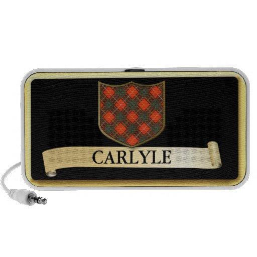Scottish Tartan design - Carlyle - Personalise iPod Speakers