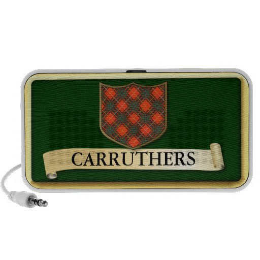 Scottish Tartan design - Carruthers - Personalise Laptop Speaker