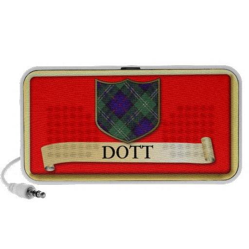 Scottish Tartan design - Dott - Personalise Notebook Speakers