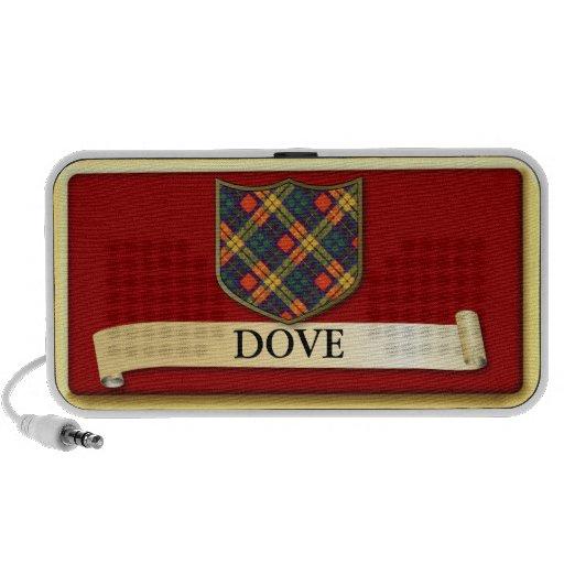 Scottish Tartan design - Dove - Personalise Notebook Speaker